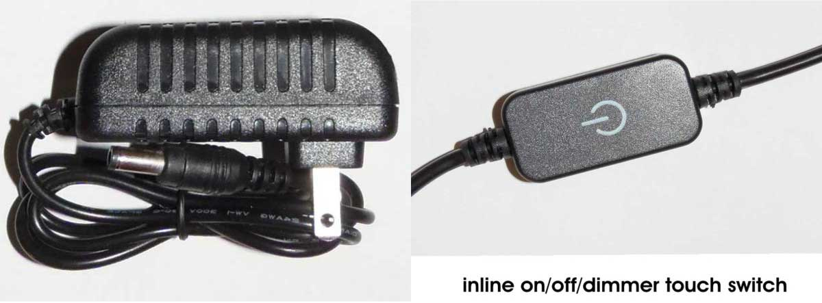 wall transformer and inline switch